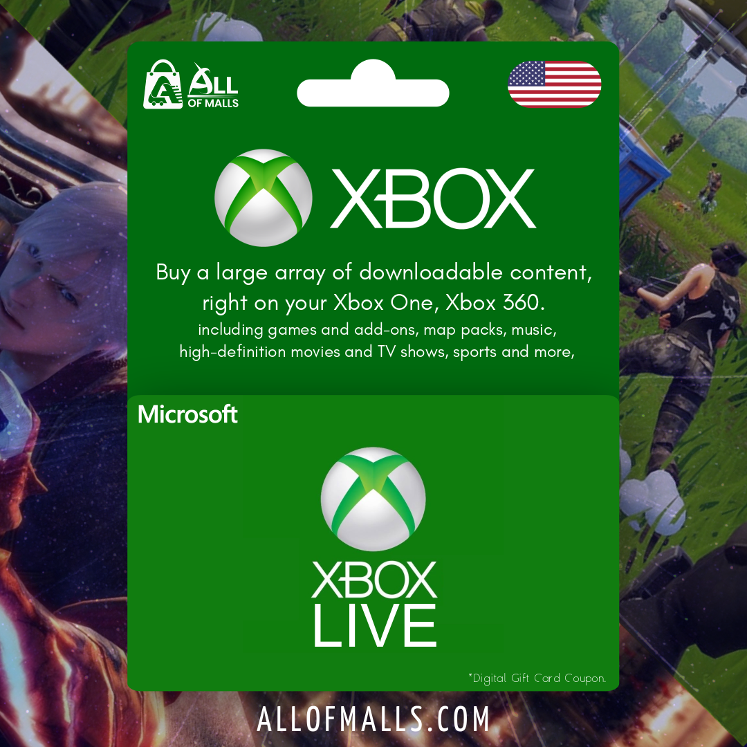 Xbox Live Gift Card US - All Of Malls